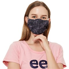 Pink Gray Galaxy Fitted Cloth Face Mask (adult) by Dazzleway