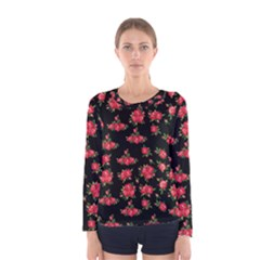 Red Roses Women s Long Sleeve Tee