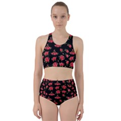 Red Roses Racer Back Bikini Set