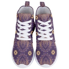 Gold And Purple Women s Lightweight High Top Sneakers
