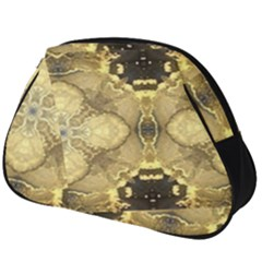 Black And Gold Full Print Accessory Pouch (big)