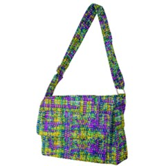 Mosaic Tapestry Full Print Messenger Bag (l)