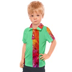 Striped Crystals Kids  Polo Tee