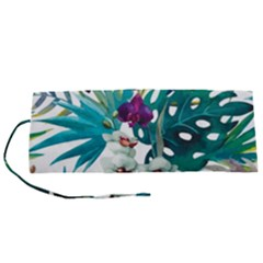 Tropical Flowers Roll Up Canvas Pencil Holder (s)