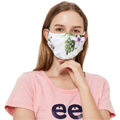 Flowers Fitted Cloth Face Mask (adult) by goljakoff