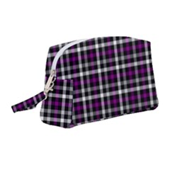Asexual Pride Checkered Plaid Wristlet Pouch Bag (medium) by VernenInkPride