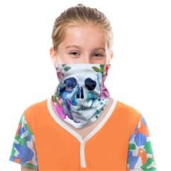 Skull And Flowers Face Covering Bandana (kids) by goljakoff