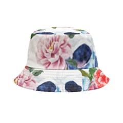 Skull And Flowers Bucket Hat by goljakoff