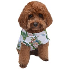 Vintage Flowers Dog T-shirt by goljakoff