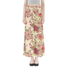 Vintage Garden Flowers Full Length Maxi Skirt by goljakoff