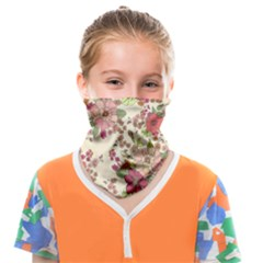 Vintage Garden Flowers Face Covering Bandana (kids) by goljakoff