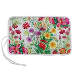 Summer Flowers Pen Storage Case (l) by goljakoff
