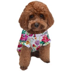 Summer Flowers Dog T-shirt by goljakoff