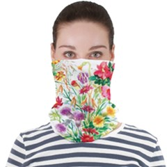 Summer Flowers Face Seamless Bandana (adult) by goljakoff