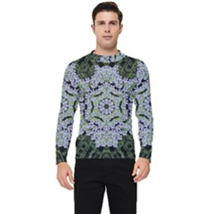 Calm In The Flower Forest Of Tranquility Ornate Mandala Men s Long Sleeve Rash Guard