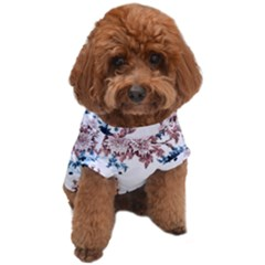 Blue And Rose Flowers Dog T-shirt by goljakoff