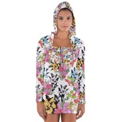 Summer Flowers Long Sleeve Hooded T-shirt by goljakoff
