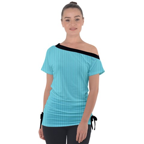 Arctic Blue & Black -  Tie-up Tee by FashionLane