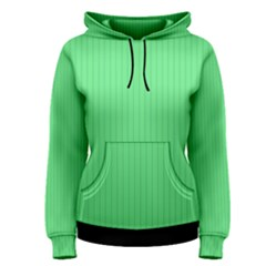 Algae Green & Black -  Women s Pullover Hoodie by FashionLane