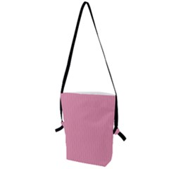 Amaranth Pink & Black - Folding Shoulder Bag by FashionLane