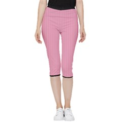 Amaranth Pink & Black - Inside Out Lightweight Velour Capri Leggings