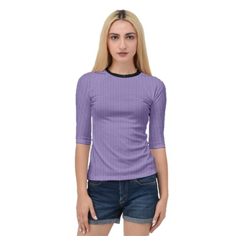 Bougain Villea Purple & Black - Quarter Sleeve Raglan Tee by FashionLane