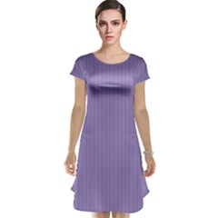 Bougain Villea Purple & Black - Cap Sleeve Nightdress