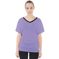 Bougain Villea Purple & Black - V-neck Dolman Drape Top by FashionLane