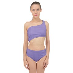 Bougain Villea Purple & Black - Spliced Up Two Piece Swimsuit by FashionLane