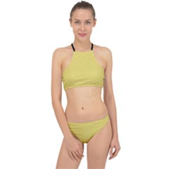 Arylide Yellow & Black - Racer Front Bikini Set by FashionLane