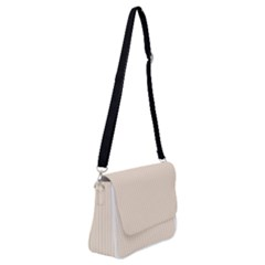 Antique White & Black - Shoulder Bag With Back Zipper by FashionLane