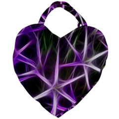 Neurons Brain Cells Imitation Giant Heart Shaped Tote