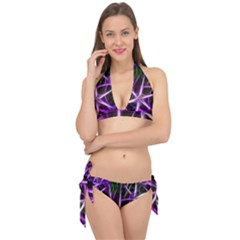 Neurons Brain Cells Imitation Tie It Up Bikini Set