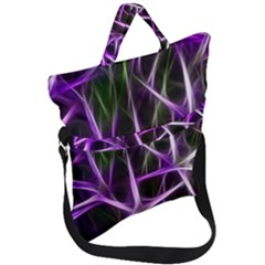 Neurons Brain Cells Imitation Fold Over Handle Tote Bag