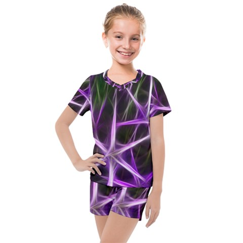 Neurons Brain Cells Imitation Kids  Mesh Tee And Shorts Set by HermanTelo