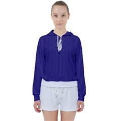 Berry Blue & White - Women s Tie Up Sweat by FashionLane