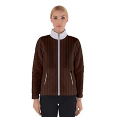 Brunette Brown & White -  Winter Jacket by FashionLane