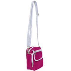 Peacock Pink & White - Shoulder Strap Belt Bag