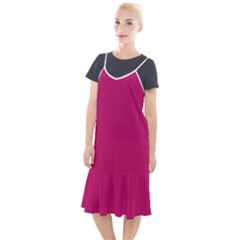 Peacock Pink & White - Camis Fishtail Dress