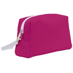 Peacock Pink & White - Wristlet Pouch Bag (large)