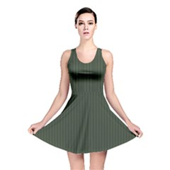 Kombu Green & White - Reversible Skater Dress