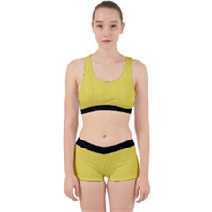Maize Yellow & Black - Work It Out Gym Set