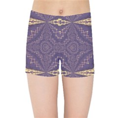 Purple And Gold Kids  Sports Shorts