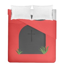 Tombstone Cemetery Dead Duvet Cover Double Side (full/ Double Size)