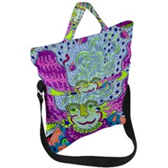 Supersoniccelestialpower2020 Fold Over Handle Tote Bag by chellerayartisans