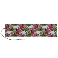 Flowers Pattern Roll Up Canvas Pencil Holder (l)
