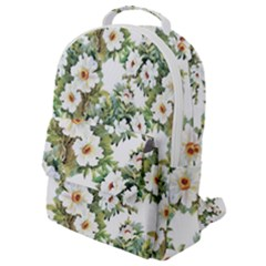 Summer Flowers Flap Pocket Backpack (small)