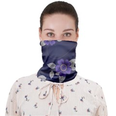 Purple Flowers Face Covering Bandana (adult) by goljakoff