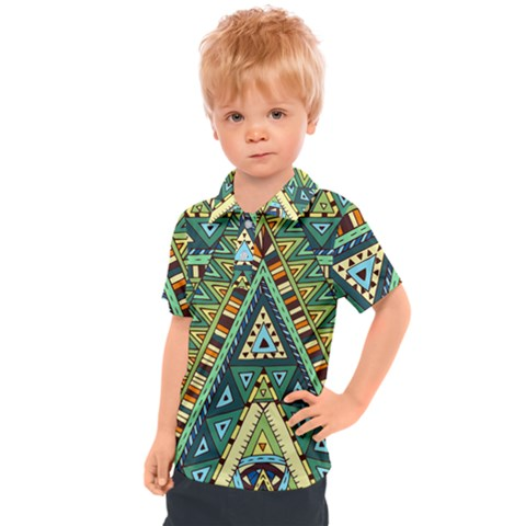 Native Ornament Kids  Polo Tee by goljakoff