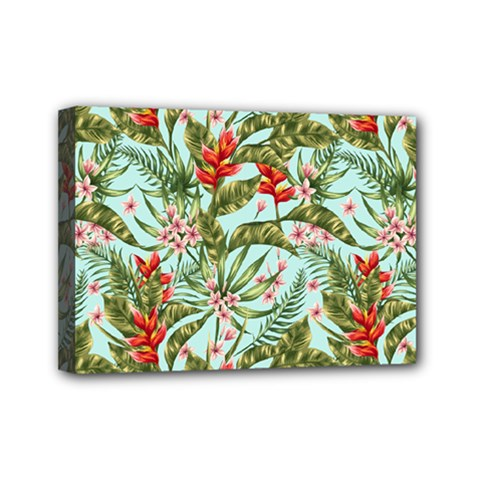 Tropical Flowers Mini Canvas 7  X 5  (stretched) by goljakoff